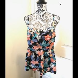 Torrid Tropical Floral Print Strapy Spring Blouse